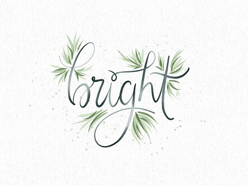 Watercolour lettering - image 2 - student project