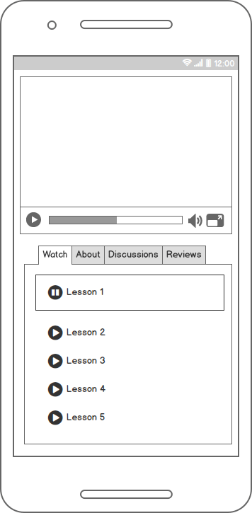 Sample Wireframe for Skillshare Page - image 2 - student project