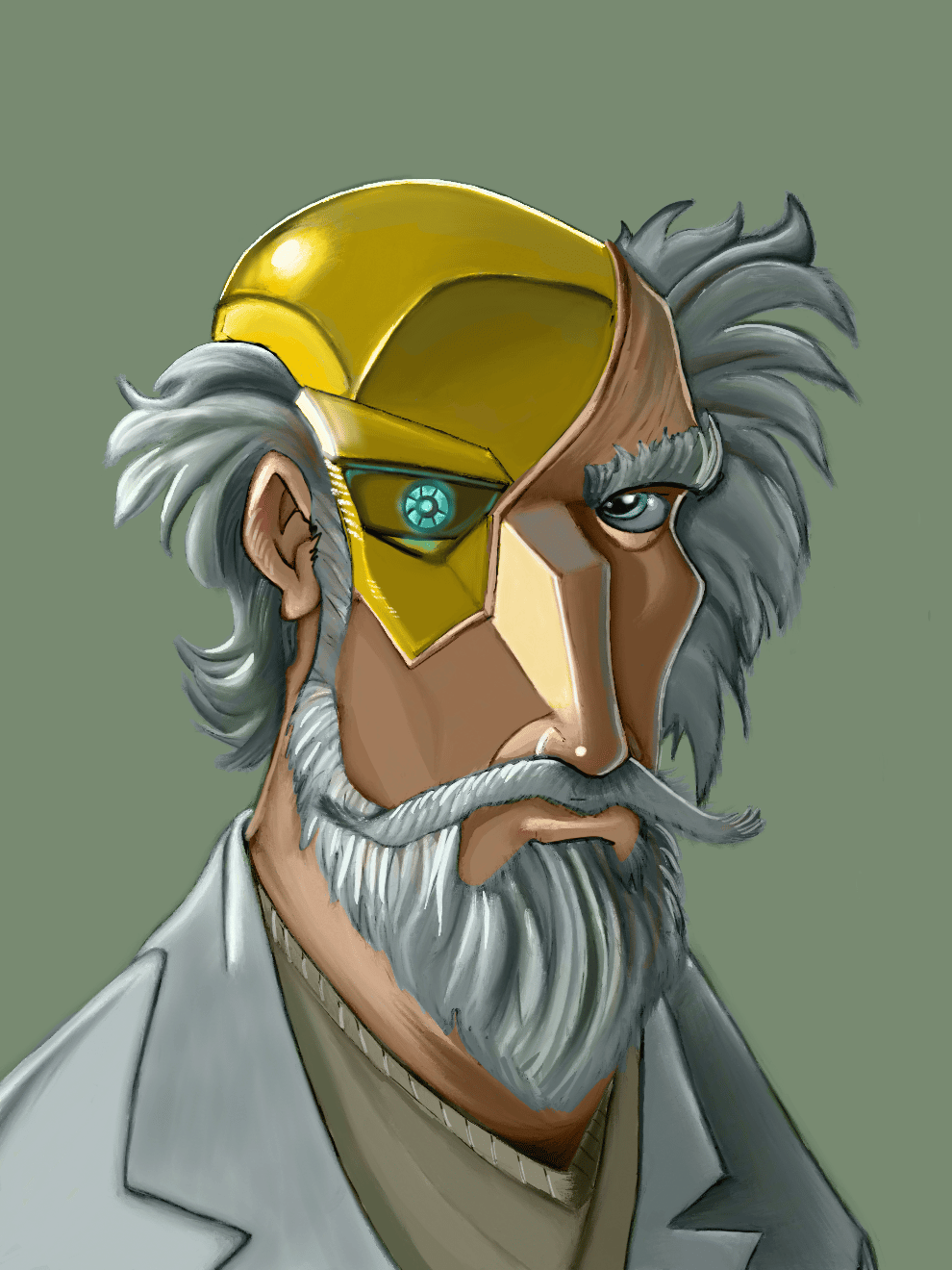 Mad Scientist - Digital Painting - image 2 - student project