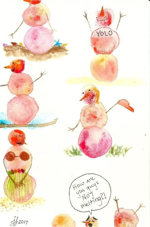 Snowmen during summer! - image 1 - student project