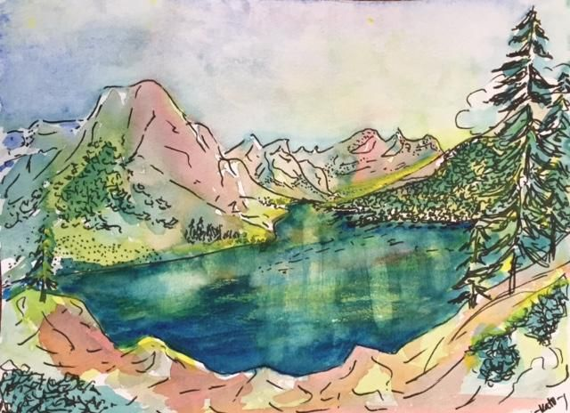 Speed painting, June Lake, Ca - image 1 - student project