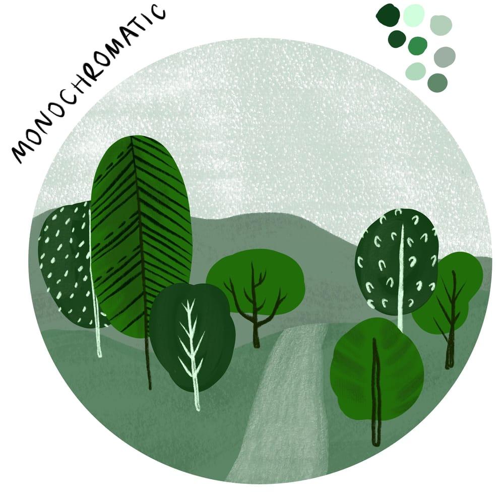 Mini landscape in three color schemes - image 1 - student project