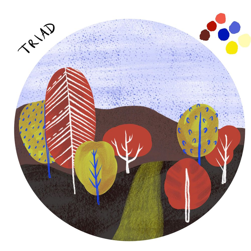 Mini landscape in three color schemes - image 3 - student project