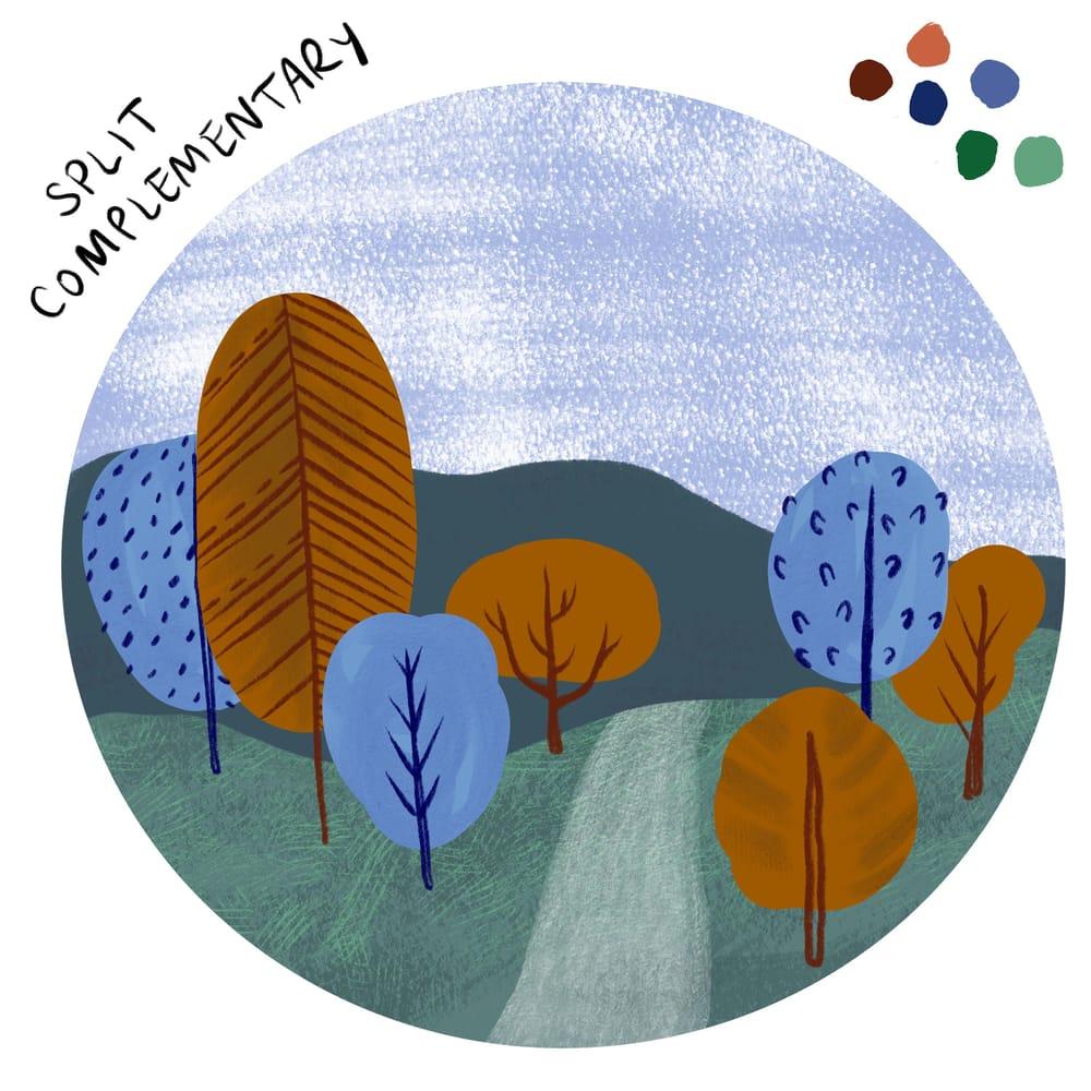 Mini landscape in three color schemes - image 2 - student project