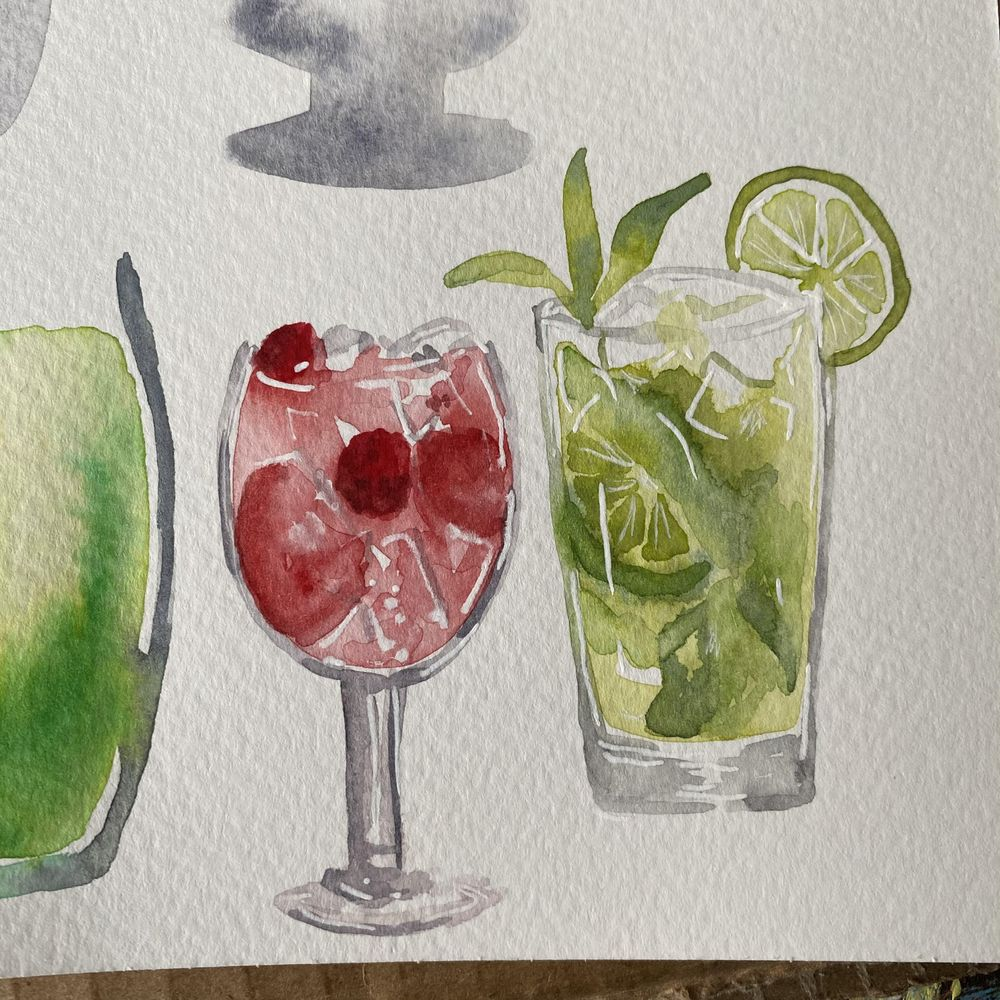 Mojito and pink gin cocktail - image 2 - student project