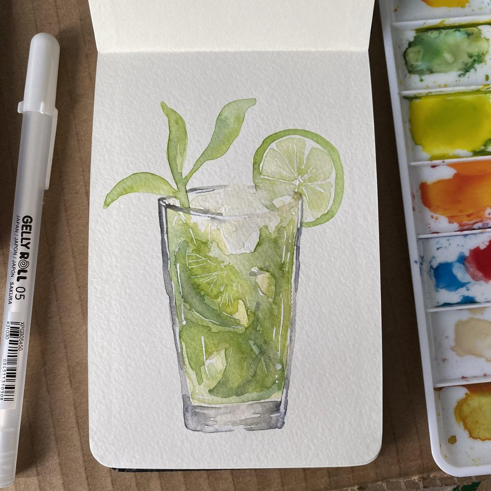 Mojito and pink gin cocktail - image 5 - student project