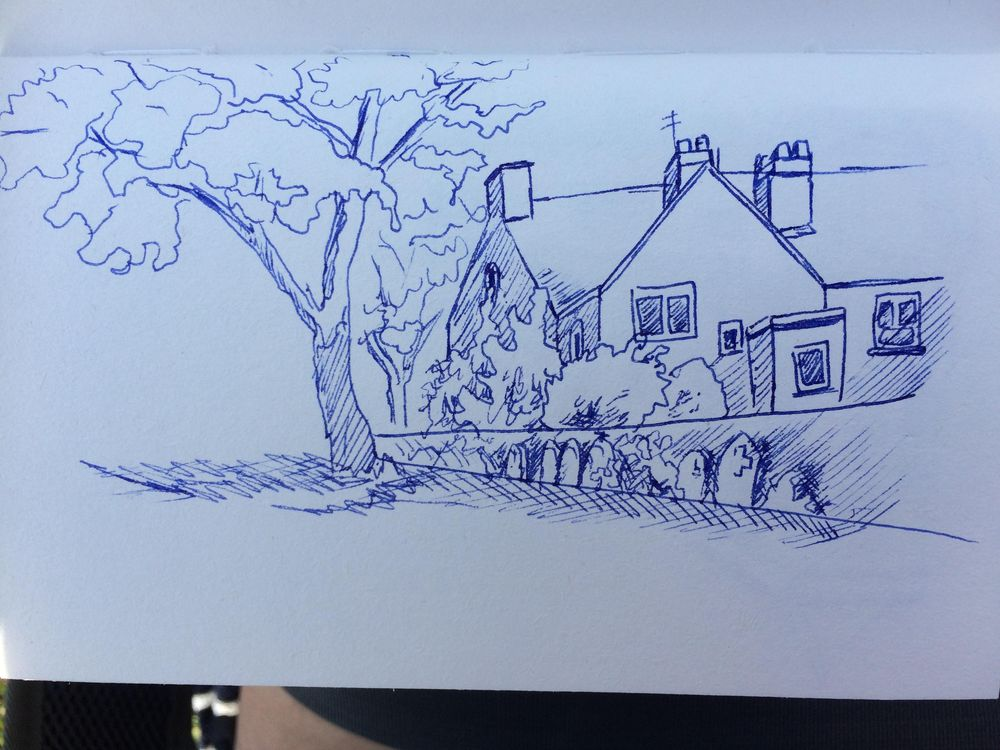 Exercises + urban sketching - image 2 - student project