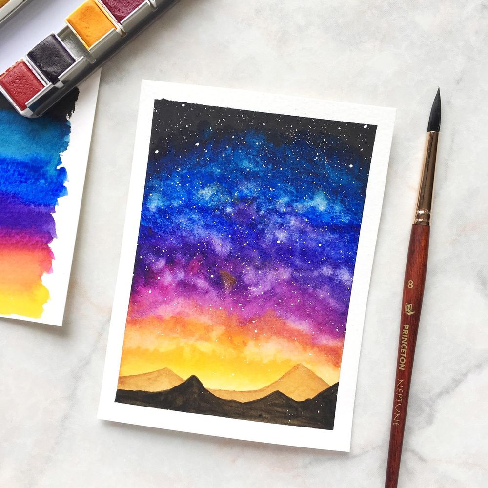 Watercolour Galaxies - image 1 - student project
