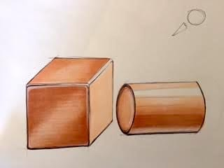 Cube and cylinder - image 2 - student project