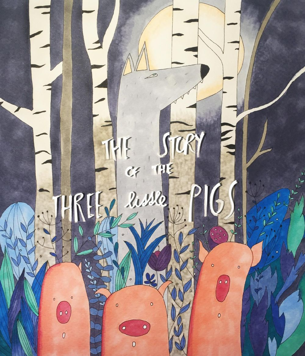 Book Cover: The story of the three little pigs - image 3 - student project