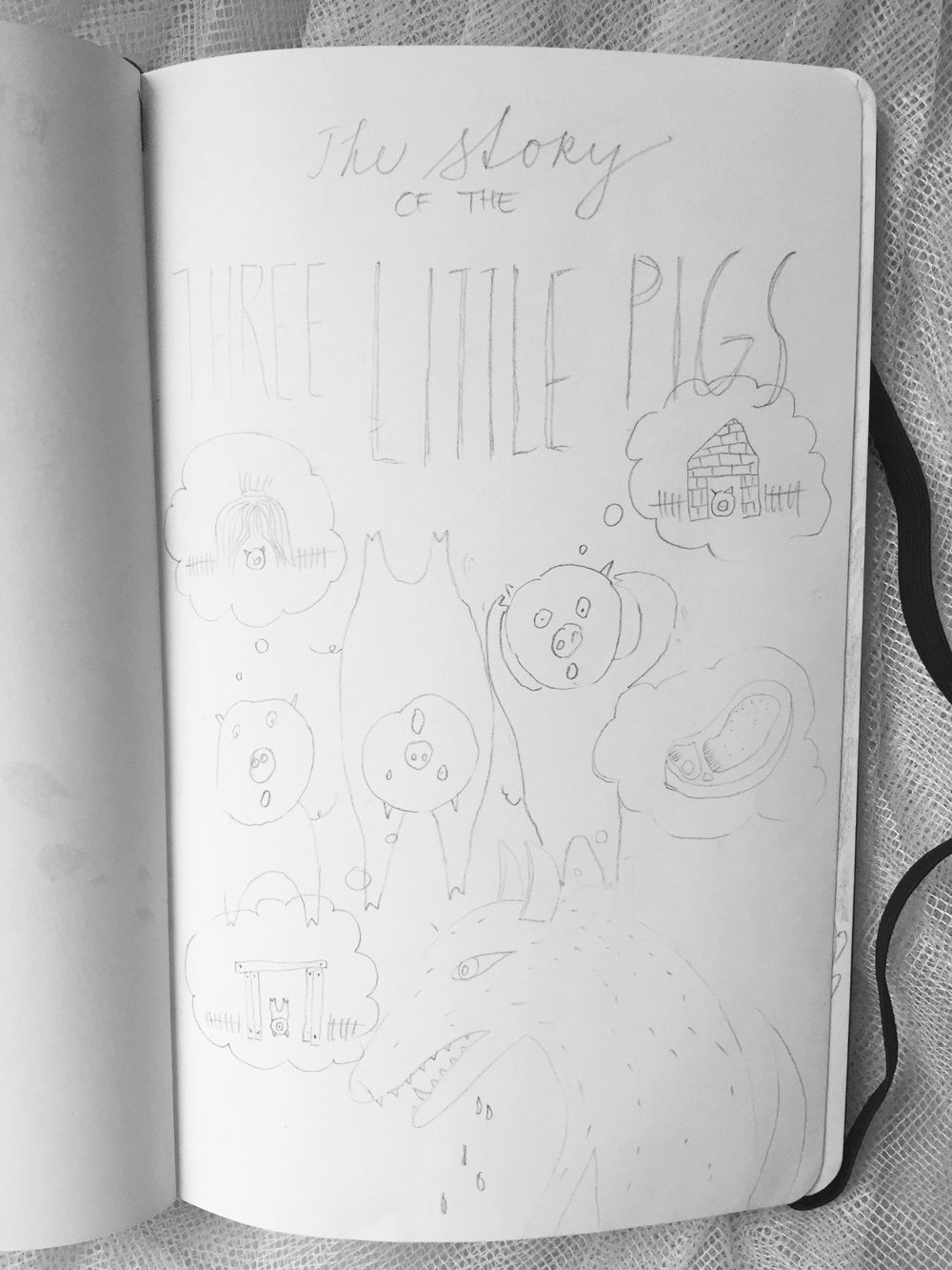 Book Cover: The story of the three little pigs - image 2 - student project