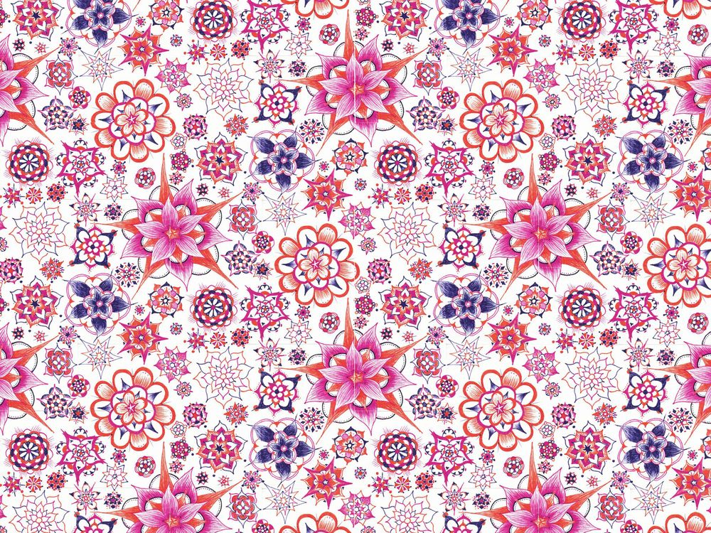 Abstract Flower Wallpaper - image 7 - student project