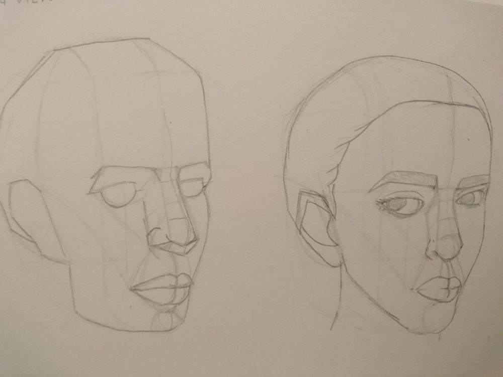 Head Profiles- Mark Hill - image 1 - student project