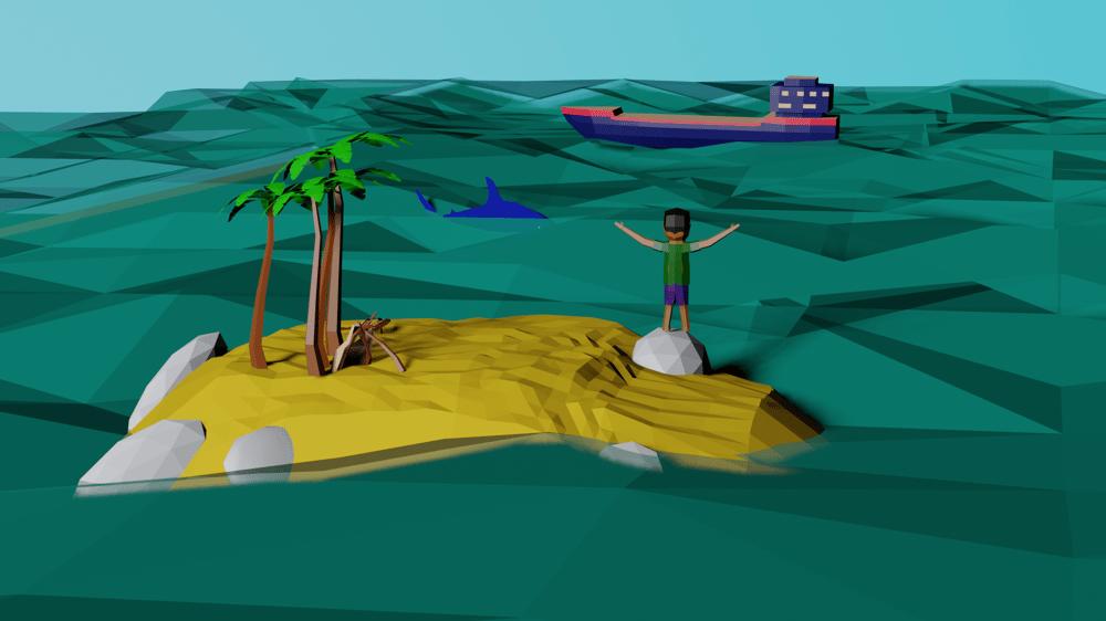 Desert Island Render - image 1 - student project