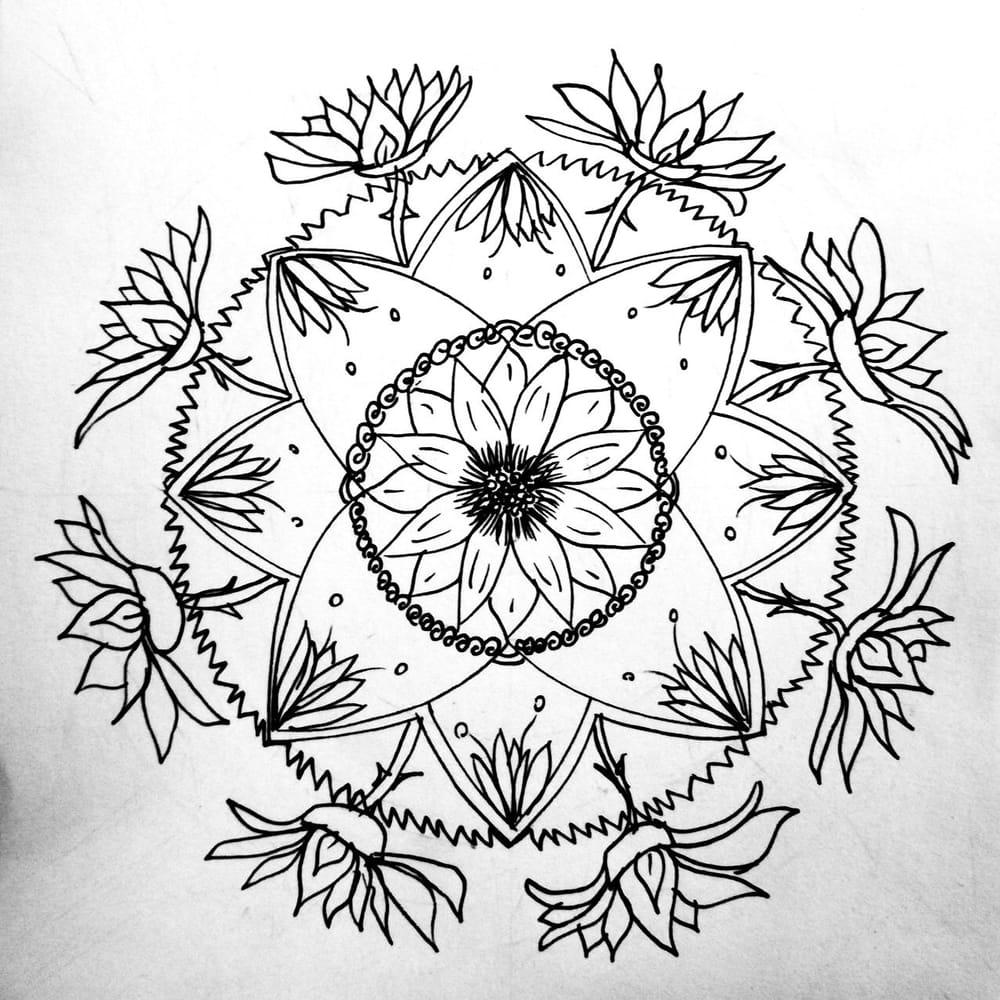 Tamars Botanical Mandala - image 1 - student project