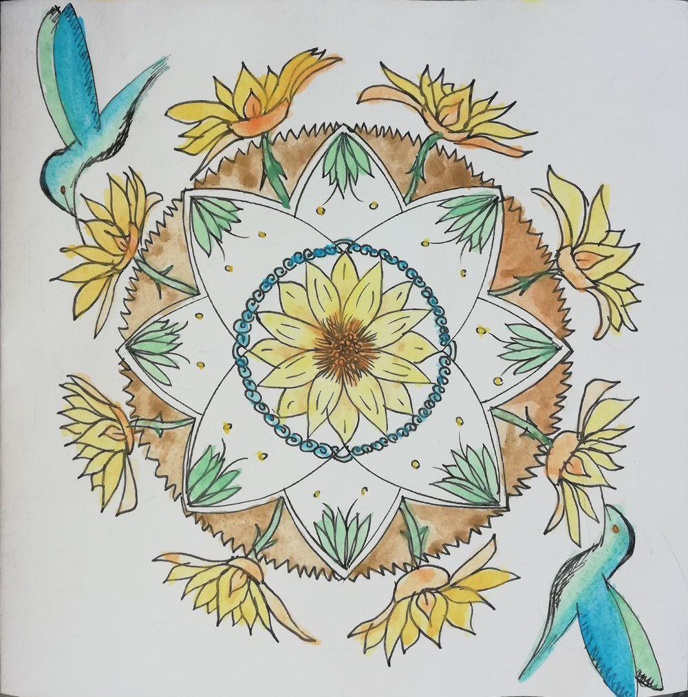 Tamars Botanical Mandala - image 2 - student project