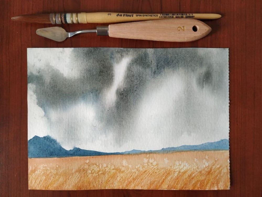 Storm cloud landscape - image 1 - student project