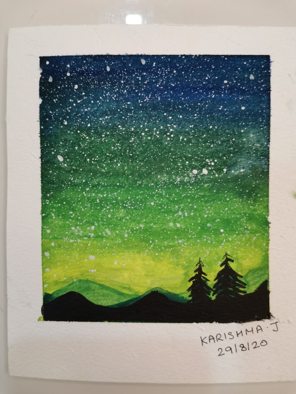 My Fun and Easy Watercolour Galaxies paintings - image 2 - student project