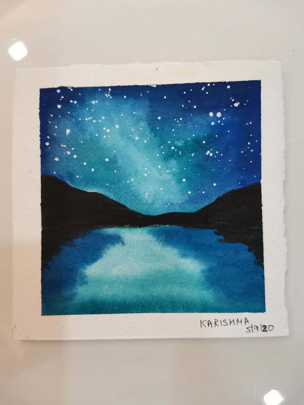 My Fun and Easy Watercolour Galaxies paintings - image 3 - student project