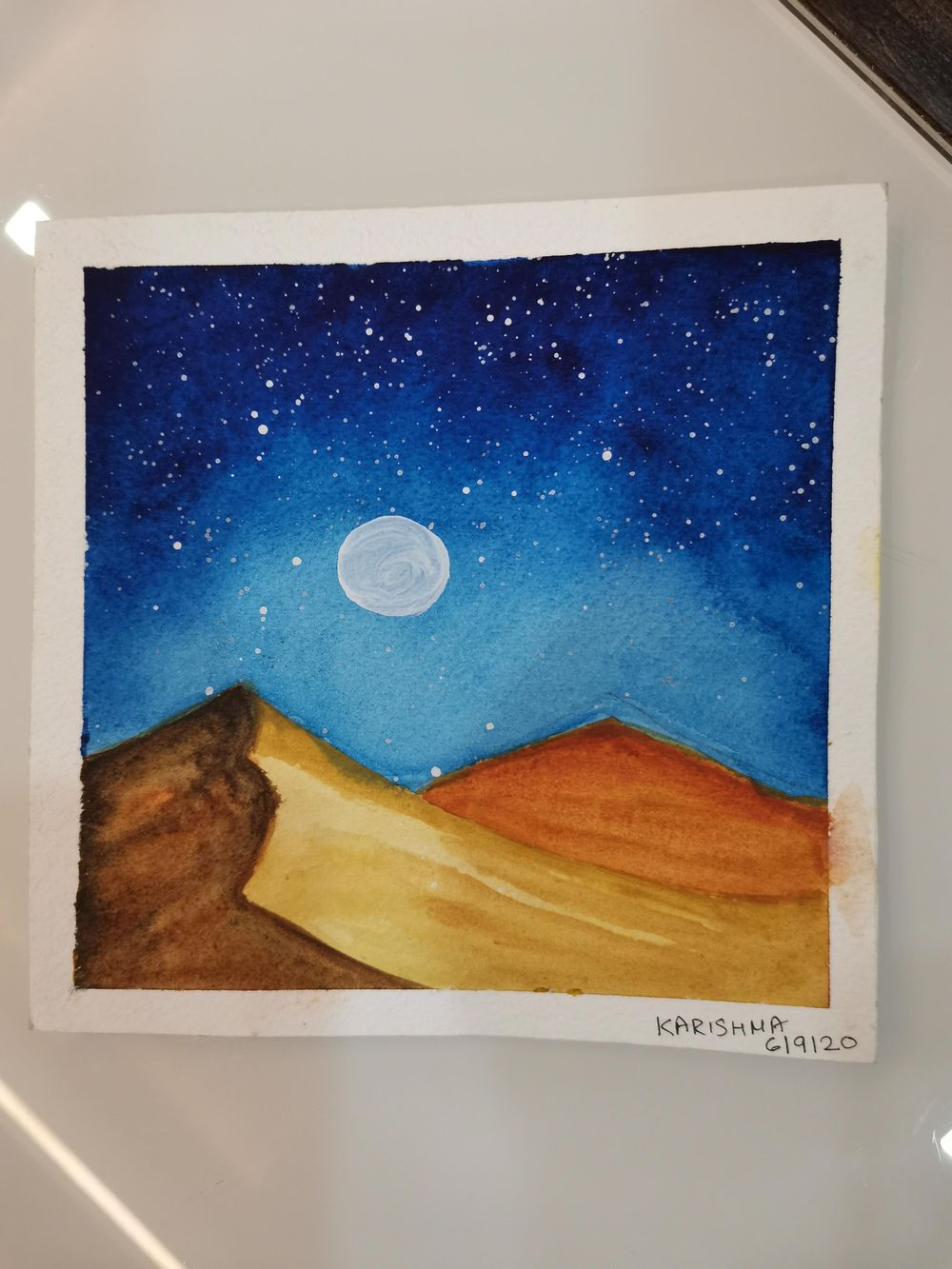 My Fun and Easy Watercolour Galaxies paintings - image 4 - student project
