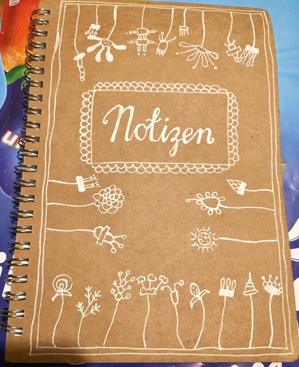 I used some of the florals for my notebook - image 1 - student project