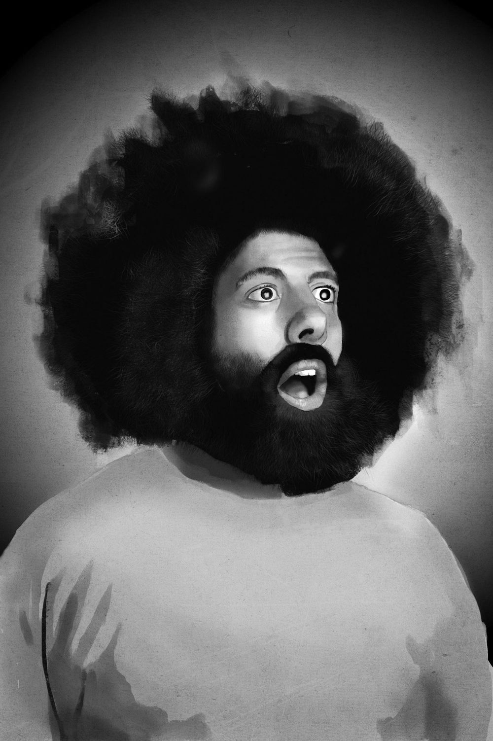Reggie Watts Portrait - image 4 - student project