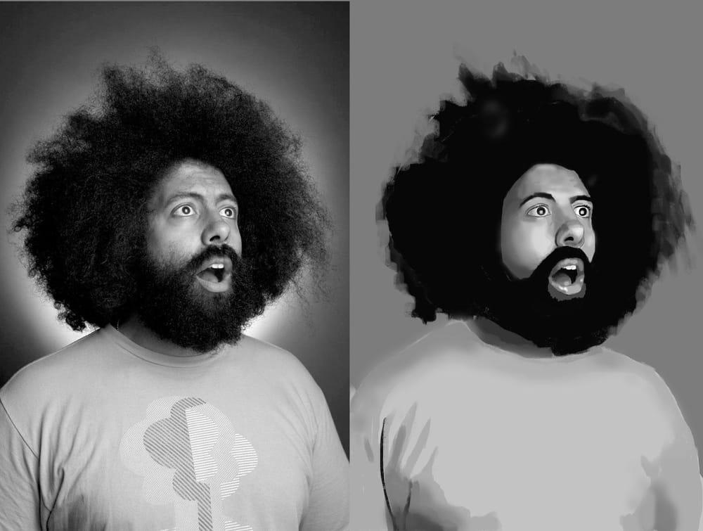 Reggie Watts Portrait - image 3 - student project
