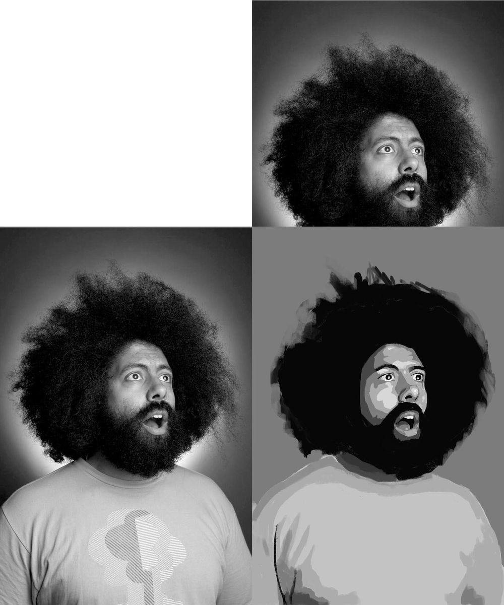 Reggie Watts Portrait - image 2 - student project