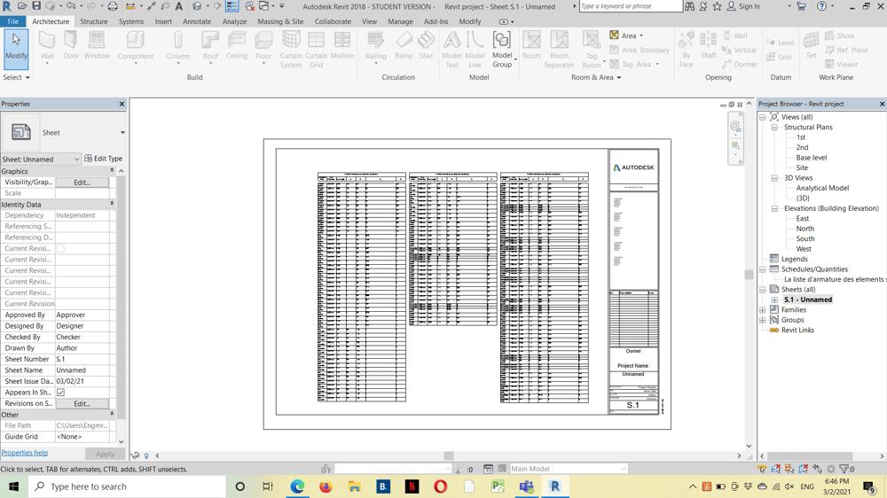 Fereillage d'une structure - image 2 - student project