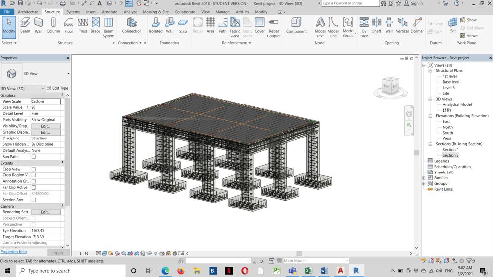 Fereillage d'une structure - image 1 - student project