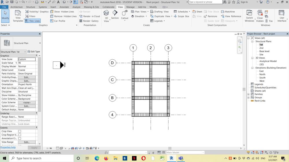 Fereillage d'une structure - image 3 - student project
