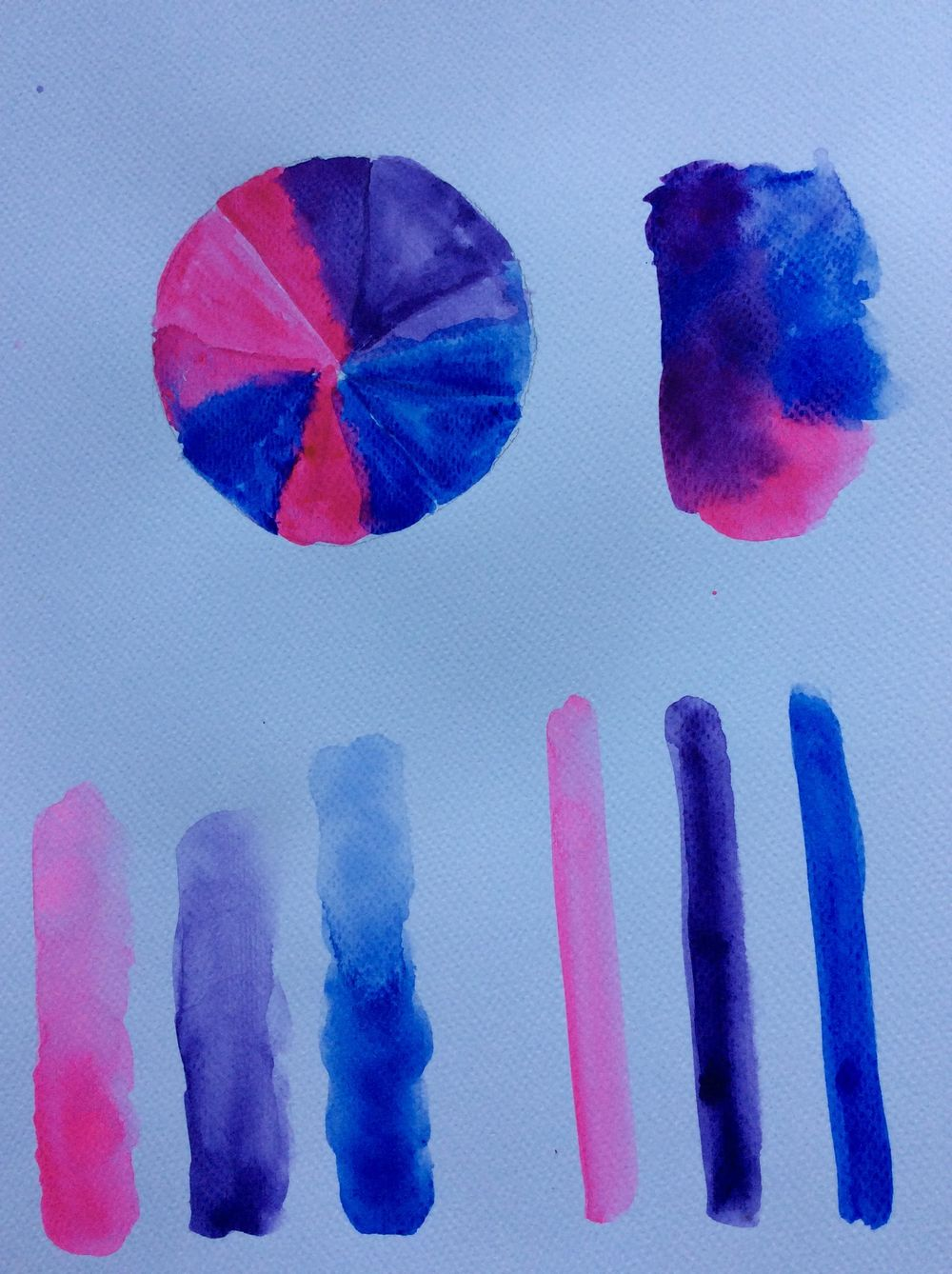 Whimsical Face in watercolour - image 6 - student project