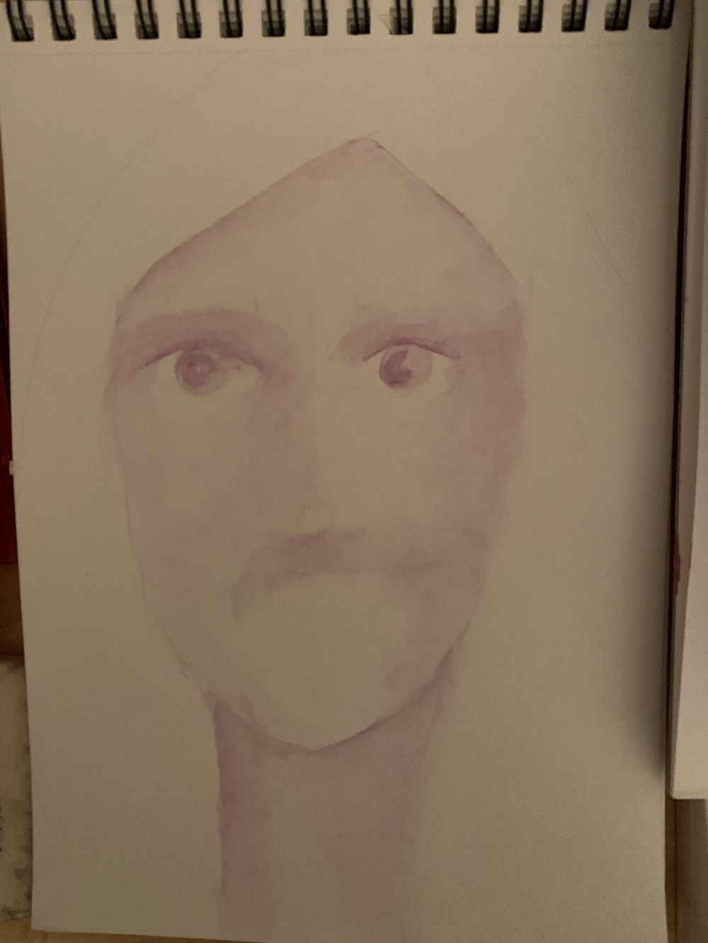 Whimsical Face in watercolour - image 5 - student project