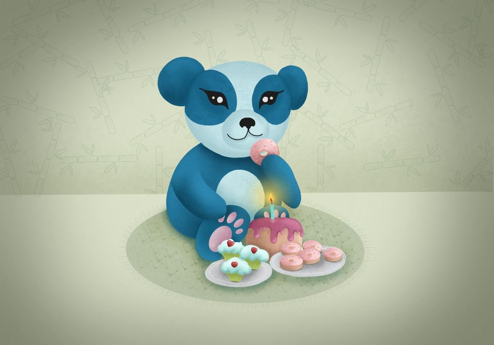 """This is my """"sweet"""" panda - image 2 - student project"""
