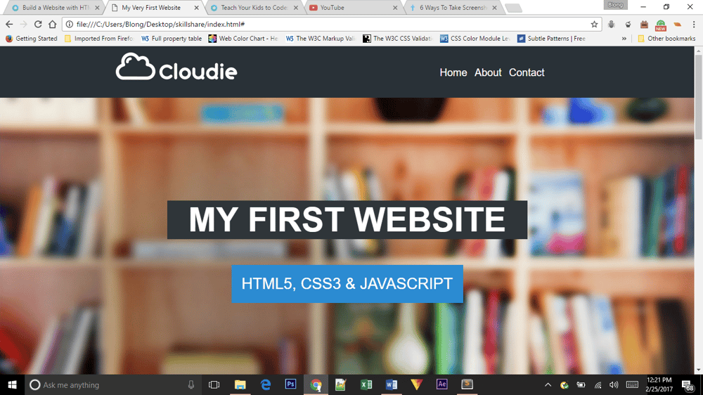 My Very First Website - image 2 - student project