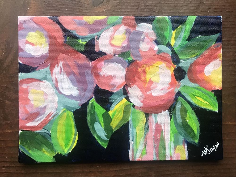 Acrylic Florals 1 - image 1 - student project
