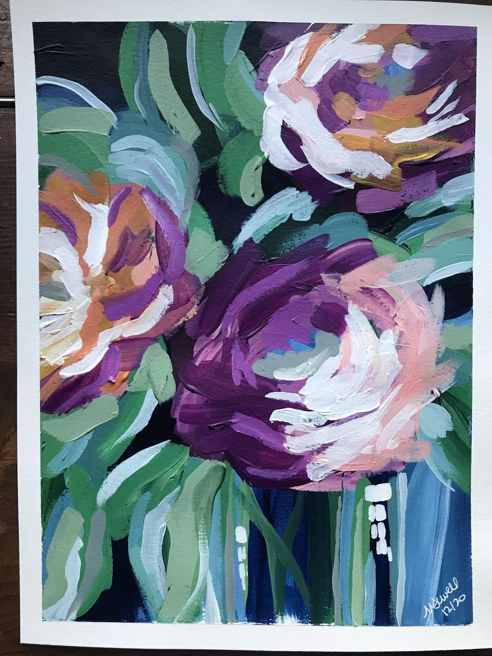 Modern acrylic florals - image 1 - student project