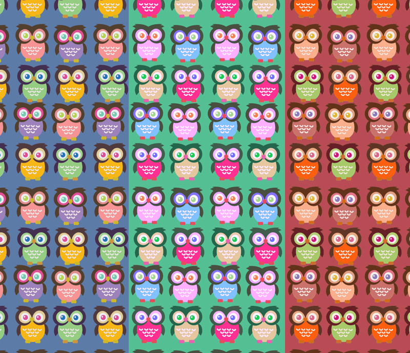 Adobe Illustrator: How to Make Seamless Owl Pattern - image 4 - student project