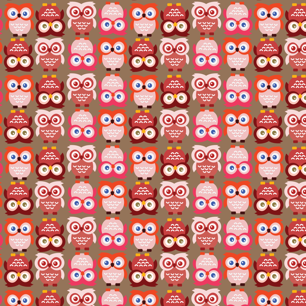 Adobe Illustrator: How to Make Seamless Owl Pattern - image 7 - student project