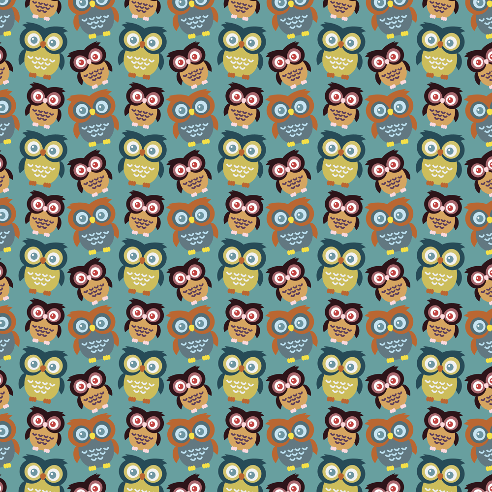 Adobe Illustrator: How to Make Seamless Owl Pattern - image 5 - student project