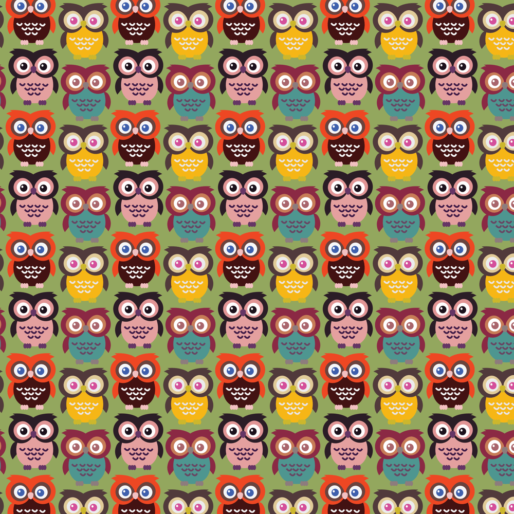 Adobe Illustrator: How to Make Seamless Owl Pattern - image 6 - student project