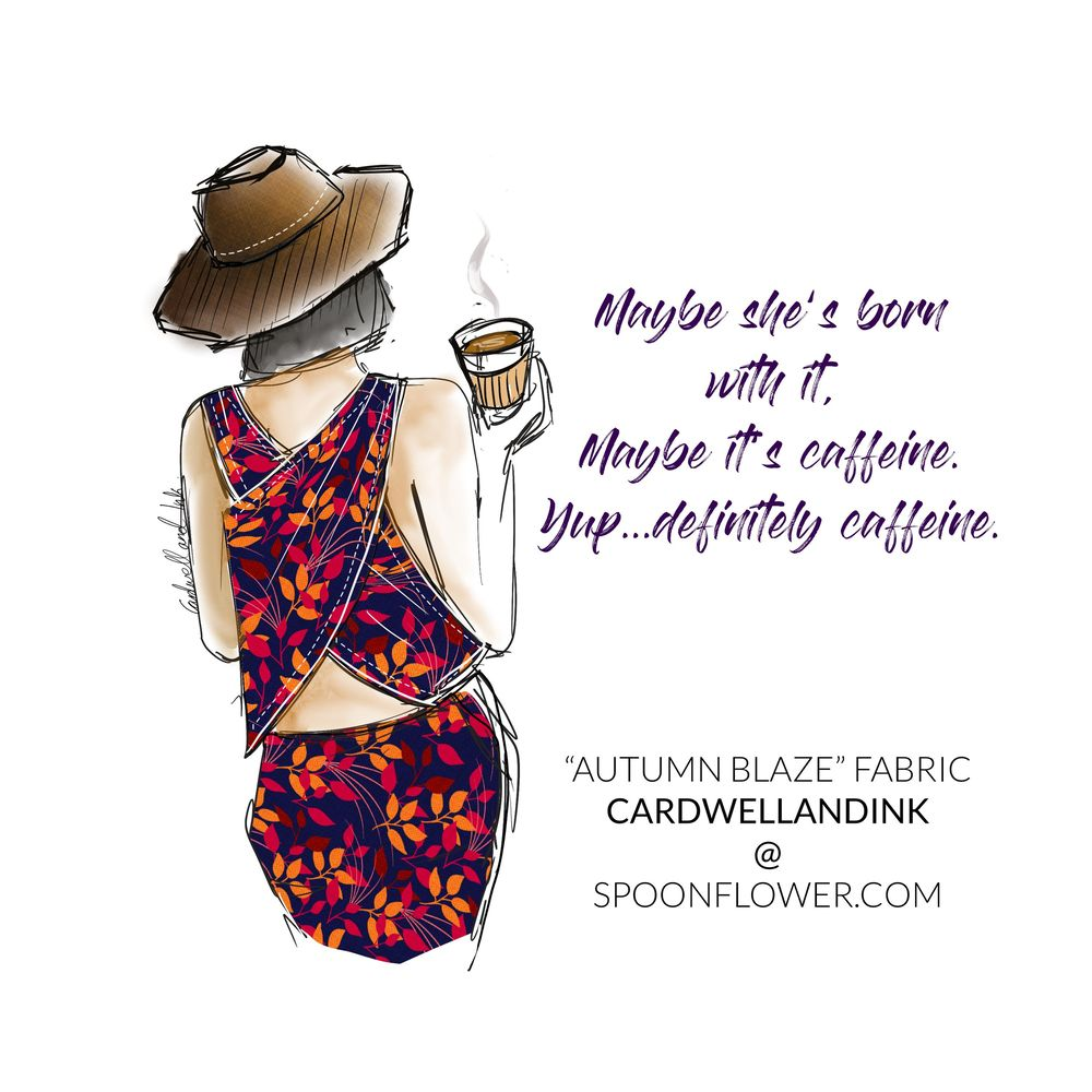 Textile design and illustration -Cardwellandink - image 1 - student project