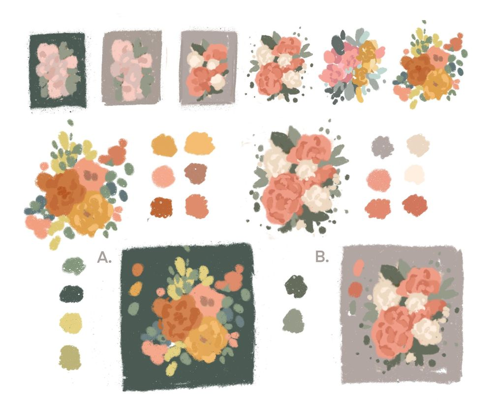 Illustrated Peonies - image 1 - student project