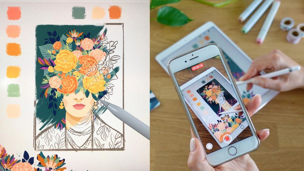 Floral Frida Art Reveal - image 1 - student project