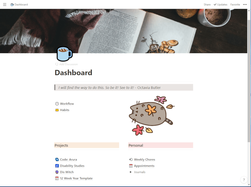 Notion Dashboard - image 1 - student project