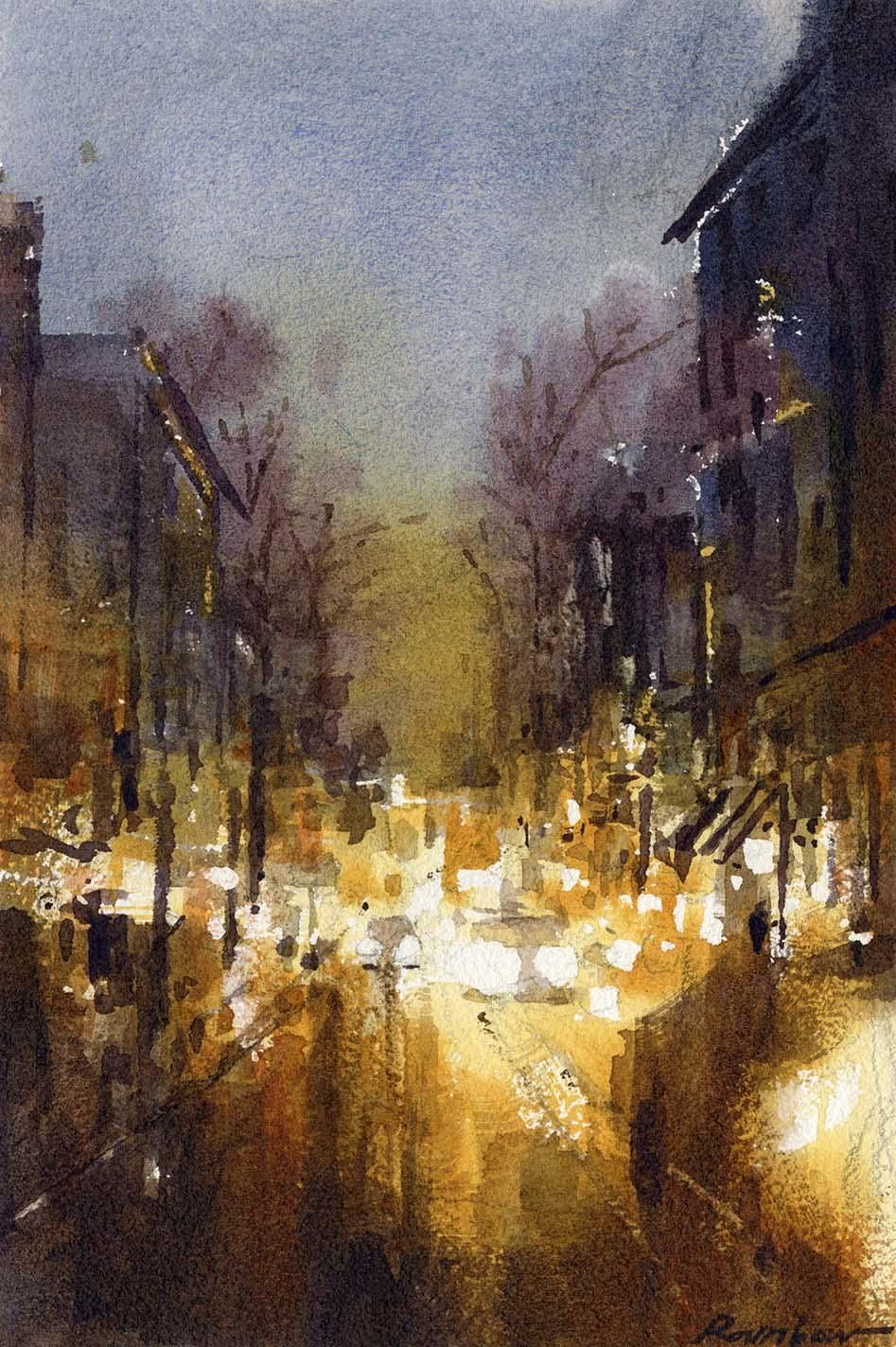 Painting Cityscapes in Watercolor: From Conception to Final Painting - image 1 - student project
