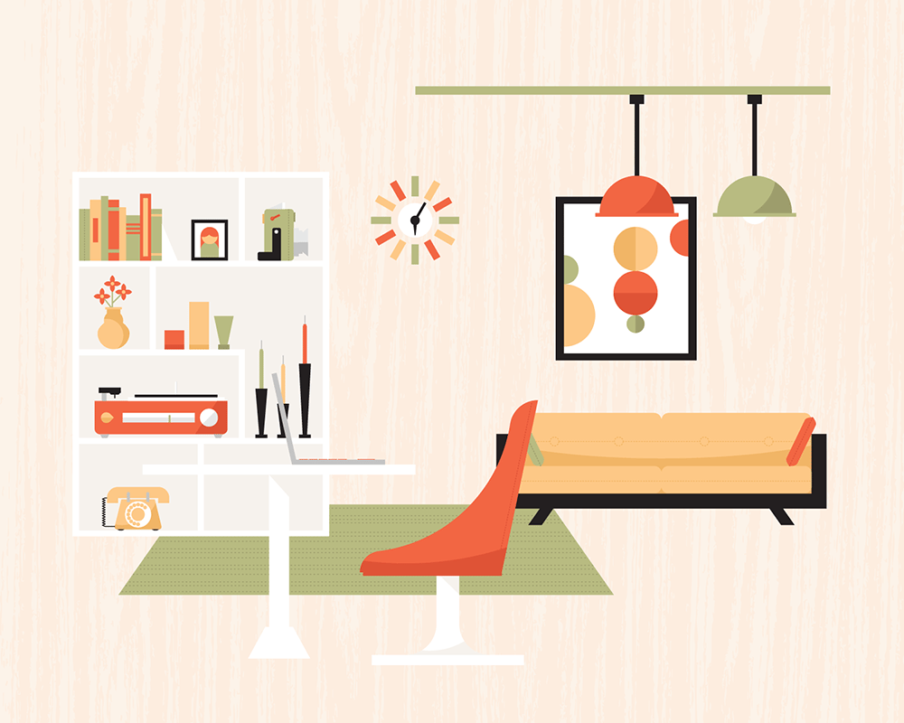 FINAL - Quiet Mid-Century Living  - image 2 - student project