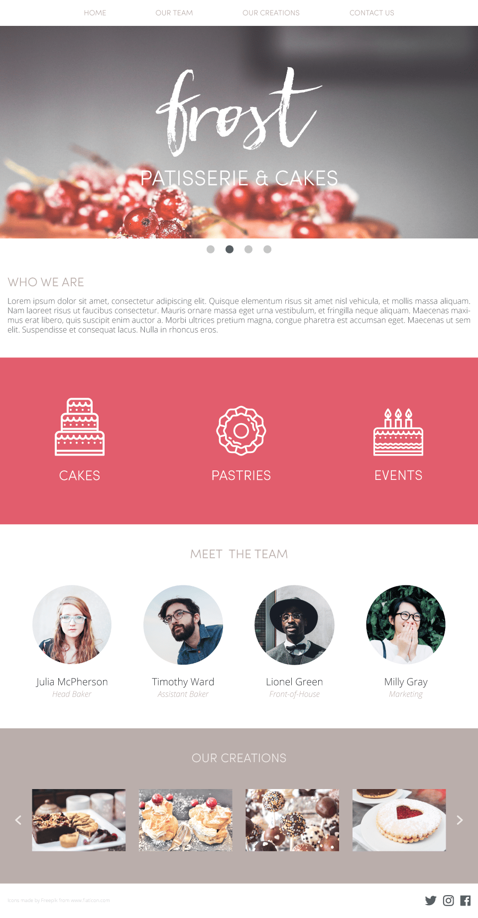 Frost - Patisserie & Cakes Website - image 1 - student project