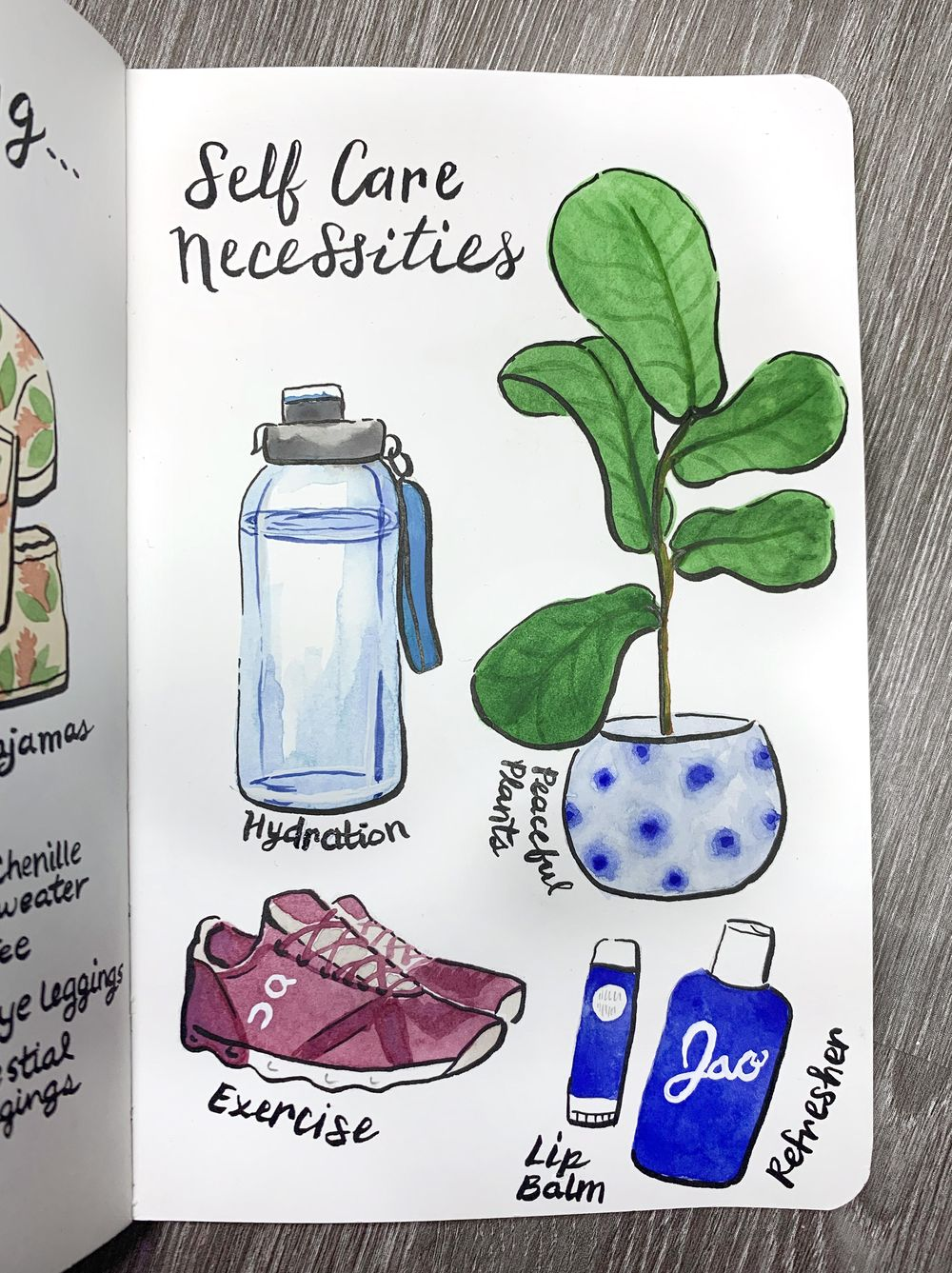 Illustrated Journaling - 14 Prompts - image 2 - student project