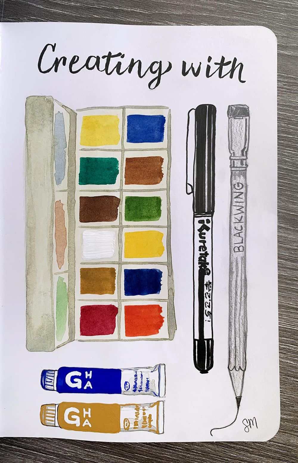Illustrated Journaling - 14 Prompts - image 8 - student project